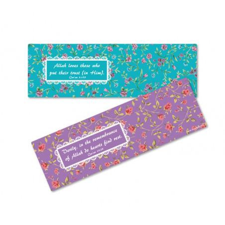 Set of 2 floral bookmarks