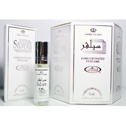 Silver Perfume Oil Attar 6 x 6ml