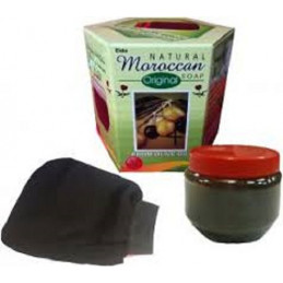 Natural Moroccan Black Soap 250g with Olive Oil & Castor Oil