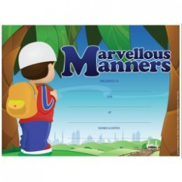 Marvellous Manners Certificate  25 pack A4